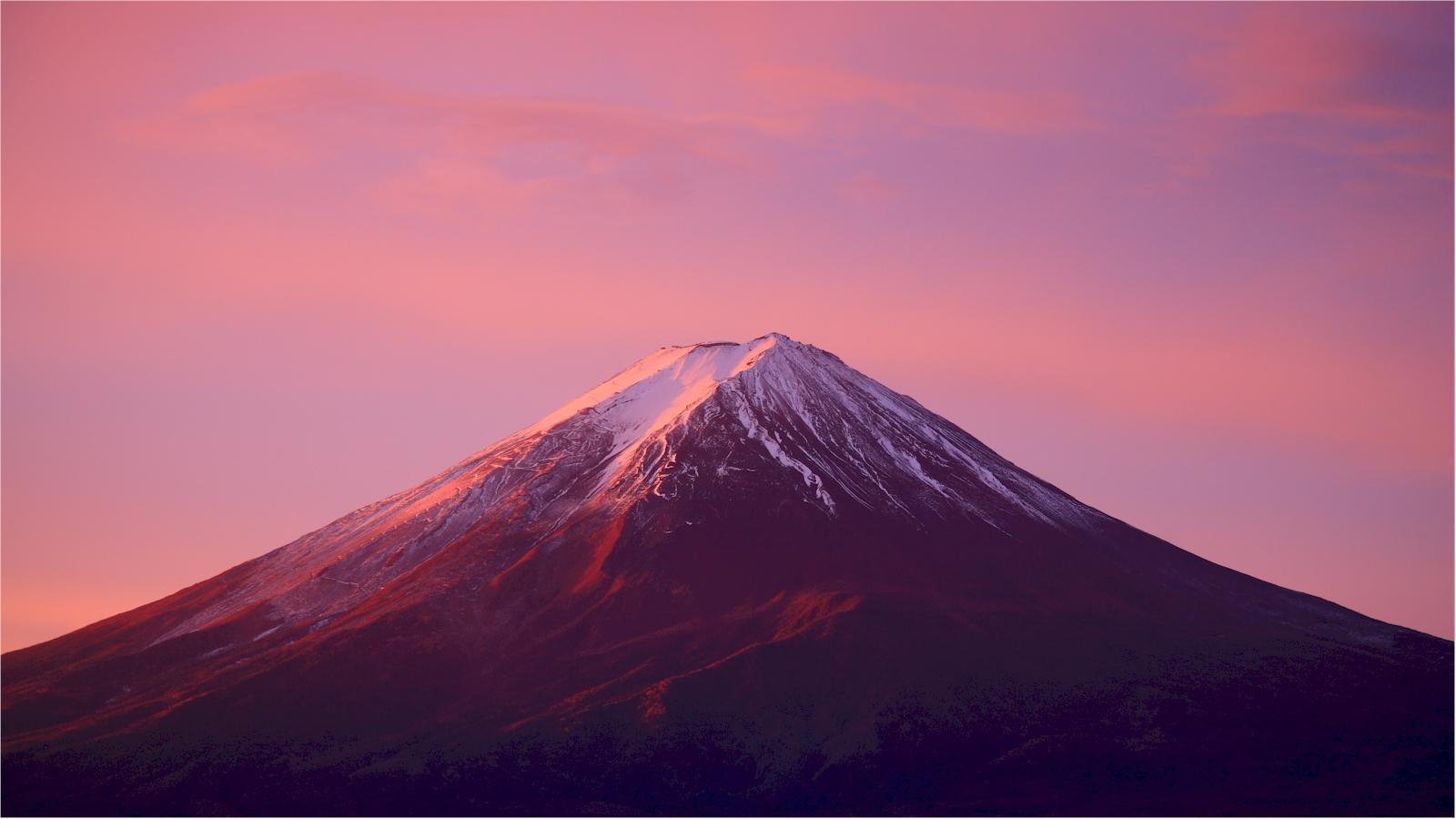 富士山の無料壁紙のページ 赤富士